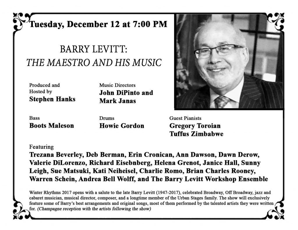 Barry Levitt Tribute Postcard
