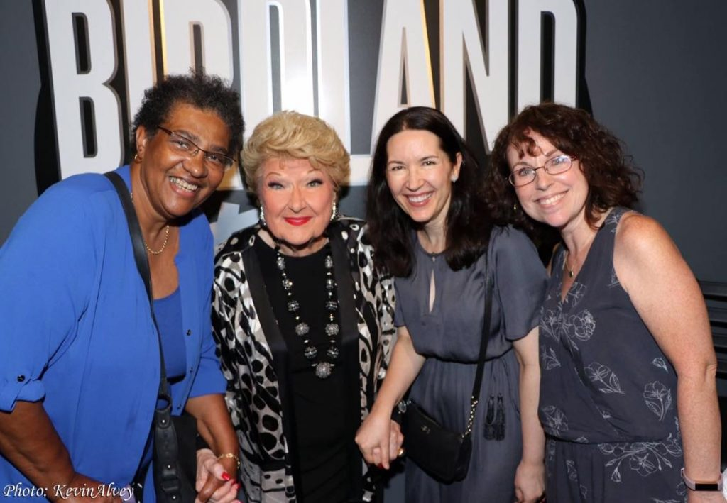 with Pam Antrobus, Marilyn Maye, and Camille Diamond at Birdland - Photo by Kevin Alvey